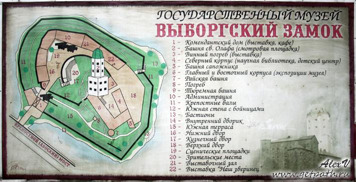 Схема Выборгского замка