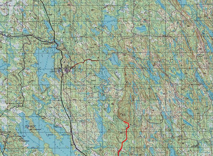 Карта Горы Воттоваара